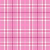 Plaid rose-clair Photos stock