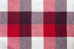 Plaid rosso Fotografia Stock
