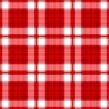 Plaid rosso senza giunte Fotografia Stock