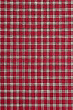 Plaid rouge et blanc Photos libres de droits