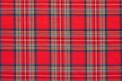 Plaid rouge, fond écossais à carreaux de tissu photo stock
