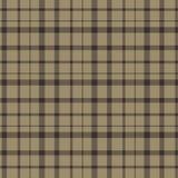 Plaid scozzese Brown e modello scozzese nero del plaid di tartan Modello del tartan Gabbia scozzese Plaid scozzese nei colori ros illustrazione vettoriale