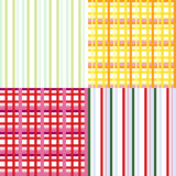 Plaid seamless background set Royalty Free Stock Image