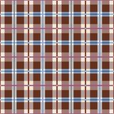 Plaid, seamless pattern, brown, vector. Squares seamless background, green, vector. Brown-coffee squares and rectangles and a thin purple and blue lines on a Stock Image