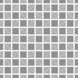 Plaid seamless pattern. Classical tablecloth texture. Checkered fabric background. Regularly repeating geometric tiles with small rhombuses, striped checks vector illustration