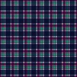 Plaid Seamless Pattern. Plaid design in colors of pink, magenta, purple, aqua, and navy blue royalty free illustration