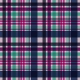 Plaid Seamless Pattern. Plaid design in colors of pink, magenta, purple, aqua, and navy blue stock illustration