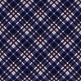 Plaid Seamless Pattern. Plaid design in colors of pink, magenta, purple, and navy blue stock illustration