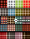Plaid seamless pattern, pattern swatches included Royalty Free Stock Images