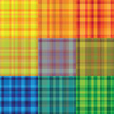 Plaid seamless retro  patterns. Different colors Royalty Free Stock Photography