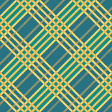 Plaid seamless tartan pattern. Diagonal texture. Seamless tartan pattern. Plaid twill blue yellow palette repeated tartan pattern. Diagonal texture Vector vector illustration