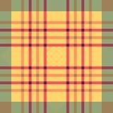 Plaid seamless tartan pattern. Twill texture. Seamless twill tartan pattern. Plaid red yellow blue palette repeated tartan pattern. Twill texture Vector Stock Photos