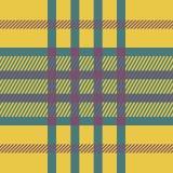 Plaid seamless tartan pattern. Twill texture. Seamless tartan pattern. Plaid yellow pink blue palette repeated tartan pattern. Twill texture Vector illustration Stock Photo