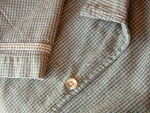 Plaid shirt. Details royalty free stock images