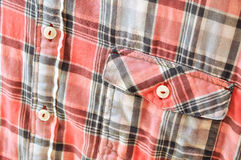 Plaid Shirt Detail Royalty Free Stock Photography