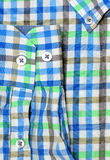 Plaid shirt macro shot Royalty Free Stock Photography