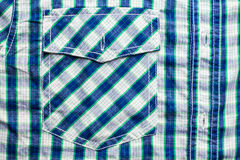 Plaid shirt pocket Stock Image
