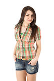Plaid shirt woman Royalty Free Stock Photos