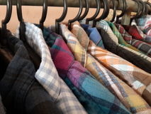 Plaid shirts Royalty Free Stock Photography