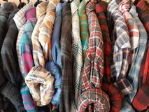 Plaid shirts Royalty Free Stock Images