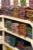 Plaid shirts shop Royalty Free Stock Images