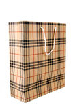 Plaid Shopping Bag Royalty Free Stock Photography
