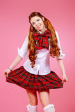 Plaid skirt Stock Images