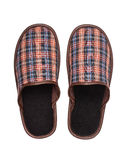 Plaid Slippers Royalty Free Stock Photo
