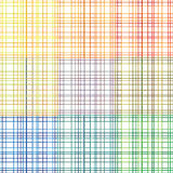 Plaid stroke seamless  patterns. Different colors Stock Image