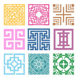 Plaid Symbol sets. Geometric Pattern Design. Korean traditional Royalty Free Stock Photography