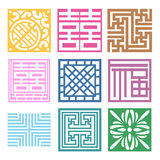 Plaid Symbol sets. Geometric Pattern Design. Royalty Free Stock Image