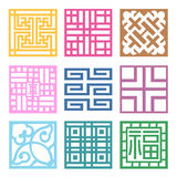 Plaid Symbol sets. Geometric Pattern Design Royalty Free Stock Photos