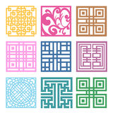 Plaid Symbol sets. Geometric Pattern Design. Korean traditional Stock Photography