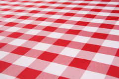 Plaid Tablecloth Royalty Free Stock Photos