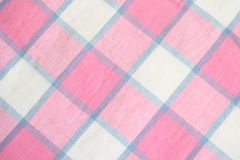 Plaid Tablecloth Stock Images