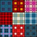 Plaid tartan, british, buffalo seamless vector fabric pattern Royalty Free Stock Photography