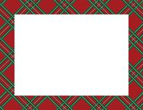 Plaid Tartan Frame. To use as a background for Winter, Holiday or Woodsy themes royalty free illustration