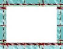 Plaid Tartan Frame. To use as a background for Winter, Holiday or Woodsy themes vector illustration