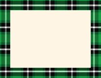 Plaid Tartan Frame. To use as a background for Winter, Holiday or Woodsy themes stock illustration
