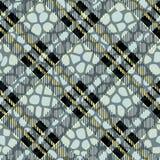 Plaid, tartan sans couture avec le cuir de modèle de peau de crocodile crocodile peau wallpaper Fond monochrome Papier textile Fa illustration de vecteur