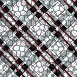 Plaid, tartan seamless with Crocodile Skin Pattern Leather. Crocodile. Skin. Wallpaper. Background. Monochrome. Paper. Textile Fashion Ebdless Smooth Graphic stock illustration