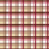Plaid tartan seamless pattern, beige style Royalty Free Stock Photo