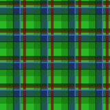 Plaid tartan seamless pattern, green style Royalty Free Stock Images