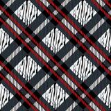 Plaid, tartan seamless with Zebra Stripes Pattern. Zebra print, animal skin, tiger stripes, abstract pattern, fabric. Amazing hand. Drawn illustration. Poster stock illustration