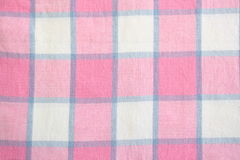 Plaid-Tischdecke Stockfoto