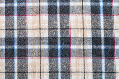 Plaid twilled cotton fabric close up Royalty Free Stock Photos