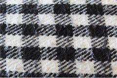 Plaid vérifié noir et blanc Photo libre de droits