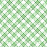 Plaid verde della banda Fotografia Stock