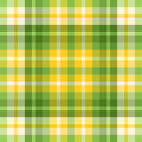Plaid verde e giallo della sorgente colorata Fotografia Stock Libera da Diritti