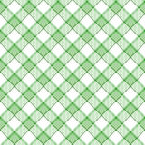 Plaid vert de piste Photographie stock
